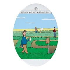Soybean Maze Ornament (Oval)