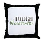 Tough Negotiator Throw Pillow