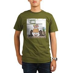Giant Snail Escape Organic Men's T-Shirt (dark)