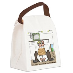 Giant Snail Escape Canvas Lunch Bag