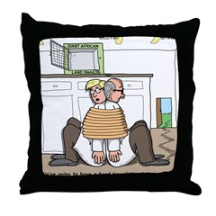 Giant Snail Escape Throw Pillow