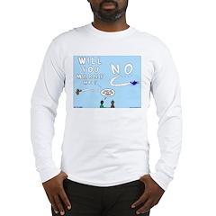 Sky Writing Proposal Long Sleeve T-Shirt