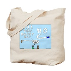 Sky Writing Proposal Tote Bag