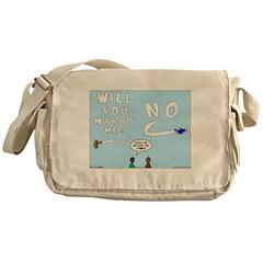 Sky Writing Proposal Messenger Bag