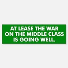 Middle Class Warfare Bumper Bumper Bumper Sticker