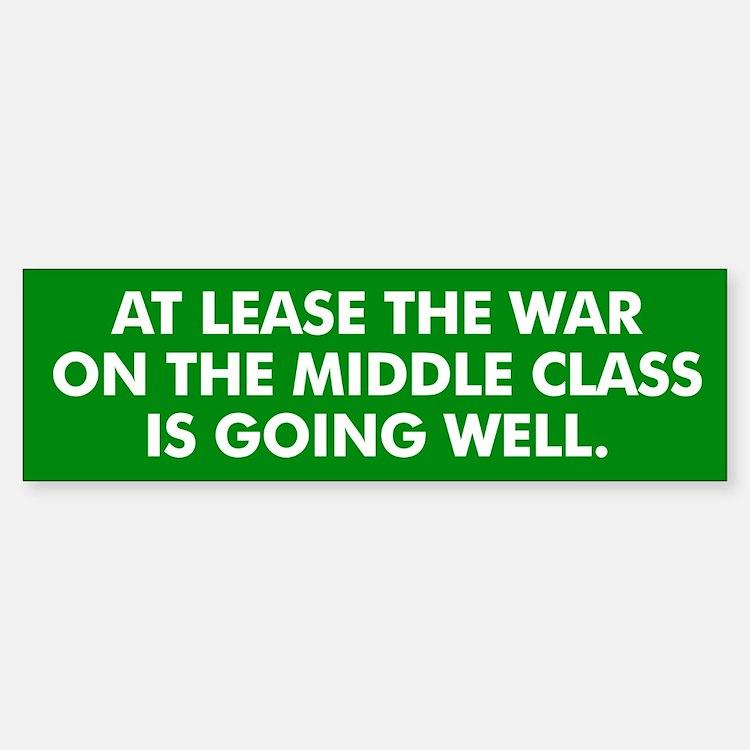 Middle Class Warfare Bumper Bumper Bumper Sticker