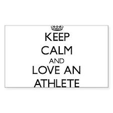 Keep Calm and Love an Athlete Decal