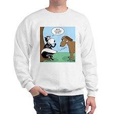 Dog Meets Skunk Sweatshirt
