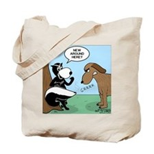 Dog Meets Skunk Tote Bag