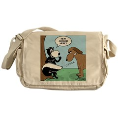 Dog Meets Skunk Messenger Bag