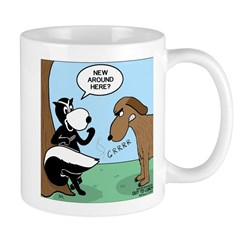 Dog Meets Skunk Mug