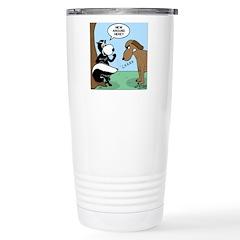 Dog Meets Skunk Travel Mug