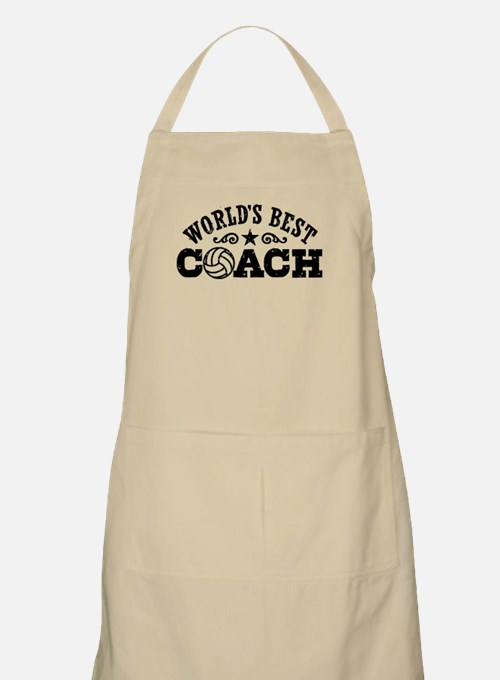 World's Best Volleyball Coach Apron