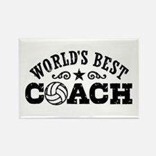 World's Best Volleyball Coach Rectangle Magnet