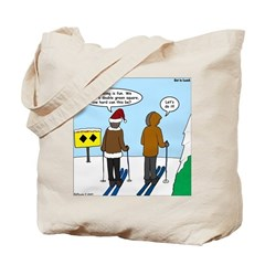 Idiot Skiers Tote Bag