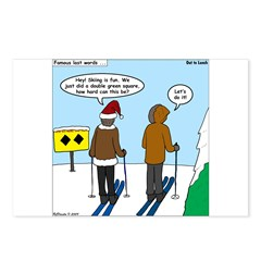Idiot Skiers Postcards (Package of 8)