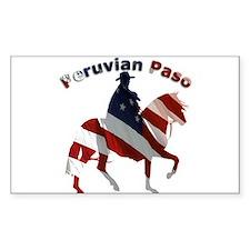 Peruvian Paso Flag Rectangle Decal