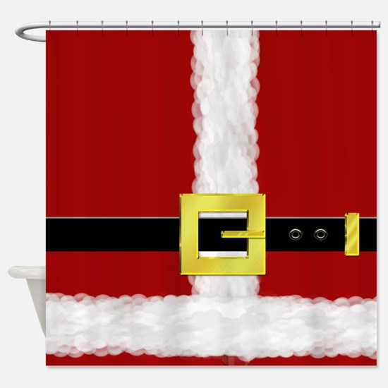 Santa Suit Shower Curtain