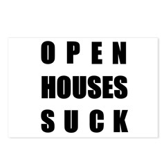 Open Houses Suck Postcards (Package of 8)