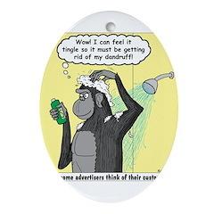 Gorilla Shampoo Commercial Ornament (Oval)