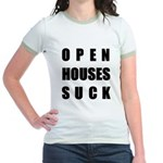 Open Houses Suck Jr. Ringer T-Shirt