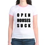 Open Houses Suck Jr. Ringer T-Shirt