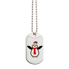 Happy Christmas Penguin Dog Tags