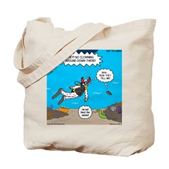 SCUBA Clowning Around Tote Bag