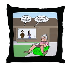 Mother-in-law Recycling Throw Pillow