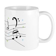 Sparkly Music Notes Mug