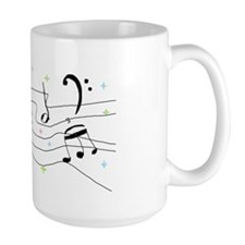 Sparkly Music Notes Mug