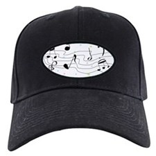 Sparkly Music Notes Baseball Hat