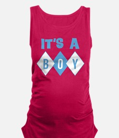 Its A Boy Retro Maternity Tank Top