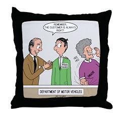 DMV Trainee Throw Pillow