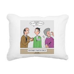 DMV Trainee Rectangular Canvas Pillow