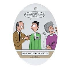 DMV Trainee Ornament (Oval)