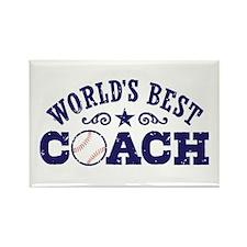 World's Best Baseball Coach Rectangle Magnet