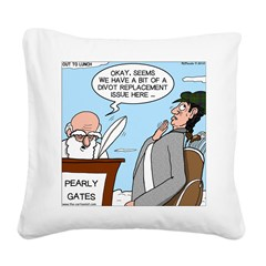 Golf Divot Sin Square Canvas Pillow