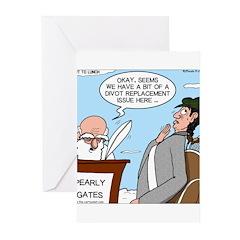 Golf Divot Sin Greeting Cards (Pk of 20)