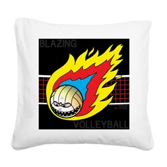 Blazing Volleyball Square Canvas Pillow