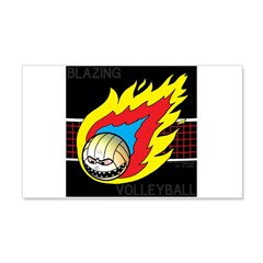 Blazing Volleyball Wall Decal