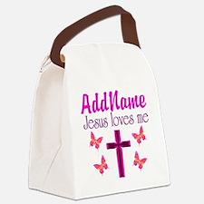 JESUS LOVES ME Canvas Lunch Bag