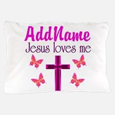 JESUS LOVES ME Pillow Case