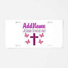 JESUS LOVES ME Aluminum License Plate
