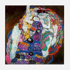Gustav Klimt Maiden Art Tile Coaster