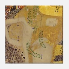 Klimt Water Serpents I Ceramic Art Tile Part 1/2