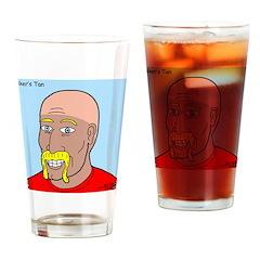 Bikers Tan Drinking Glass