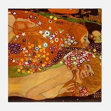 Klimt Water Snakes II Ceramic Art Tile Part 2/2