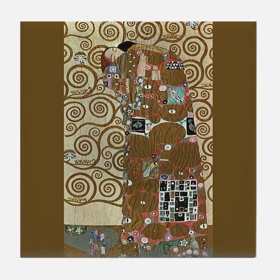 Gustav Klimt Fulfillment Ceramic Art Tile Coaster