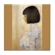 Klimt Art Tile Coaster Portrait of Helene Klimt